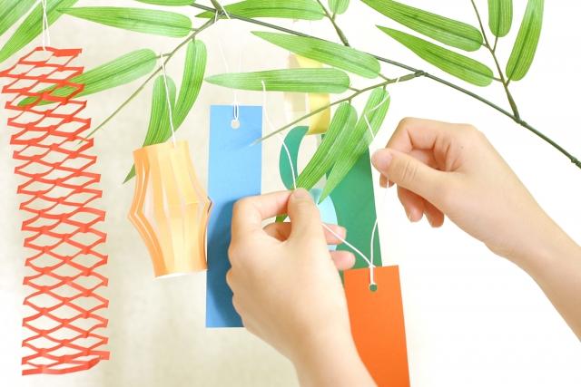 七夕飾り基本の5種類をおさえよう!短冊の色の意味と色別の願い事例